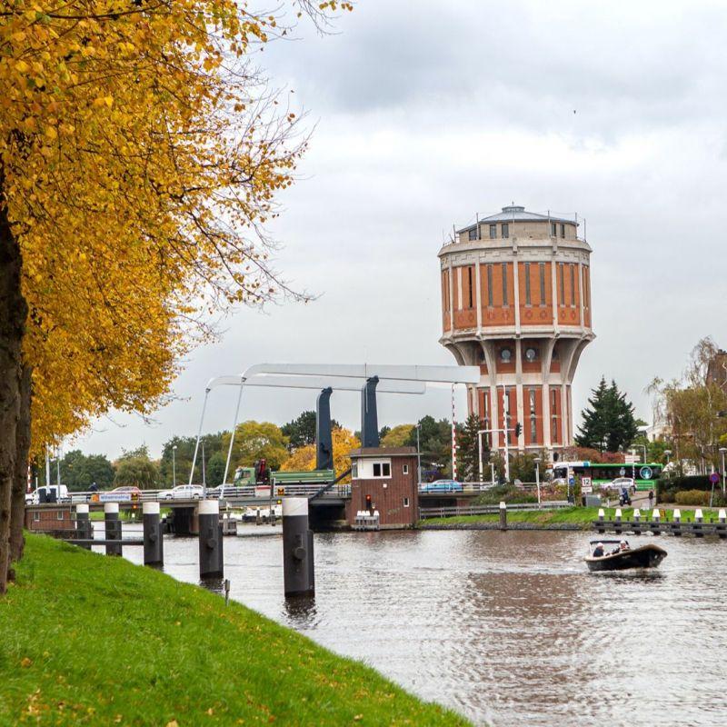 <strong>Leiden</strong><br><p>Hoge Rijndijk - watertoren</p>